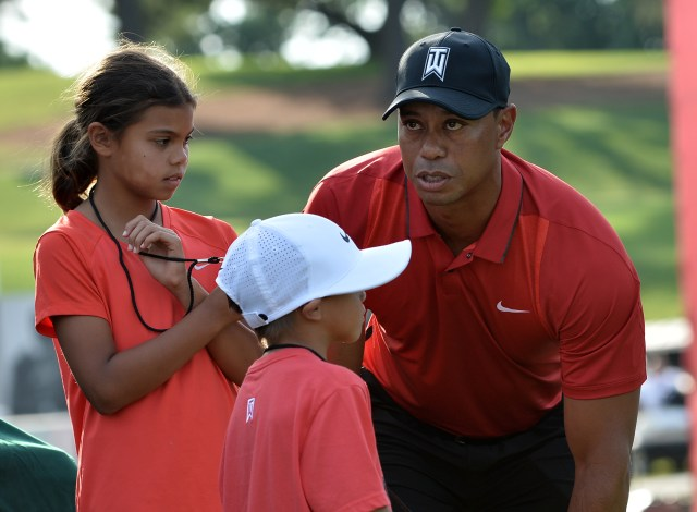 Woods has two kids, Sam, 13 and Charlie, 11
