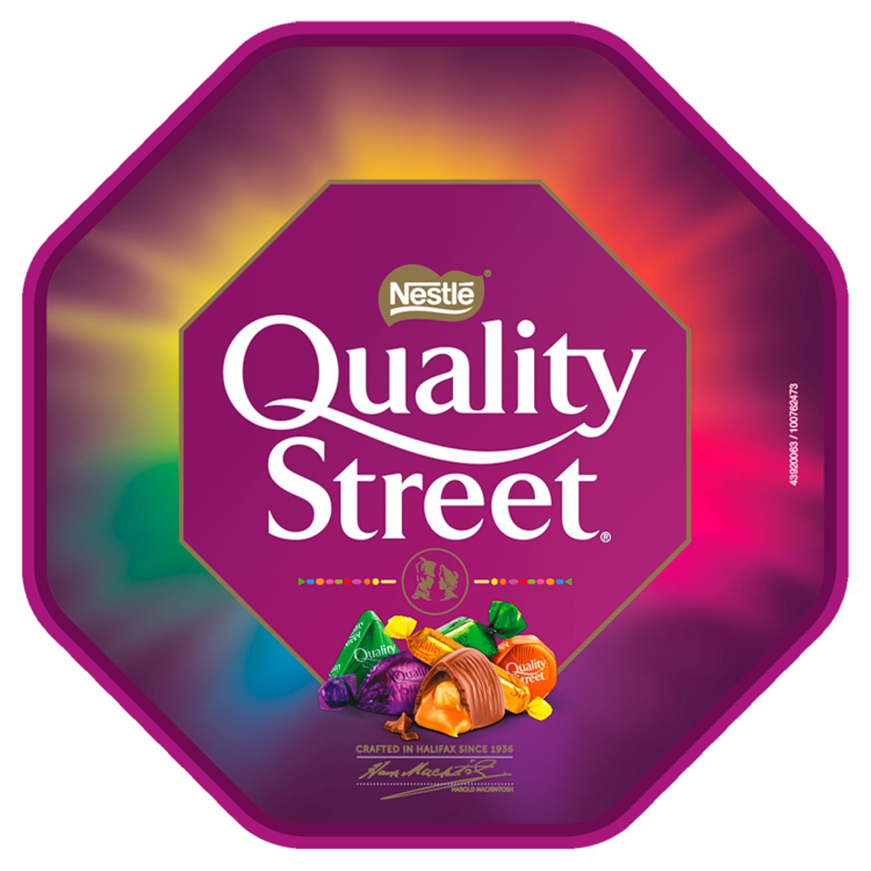 Save 50p on a tub of Quality Street chocolates at tesco.com