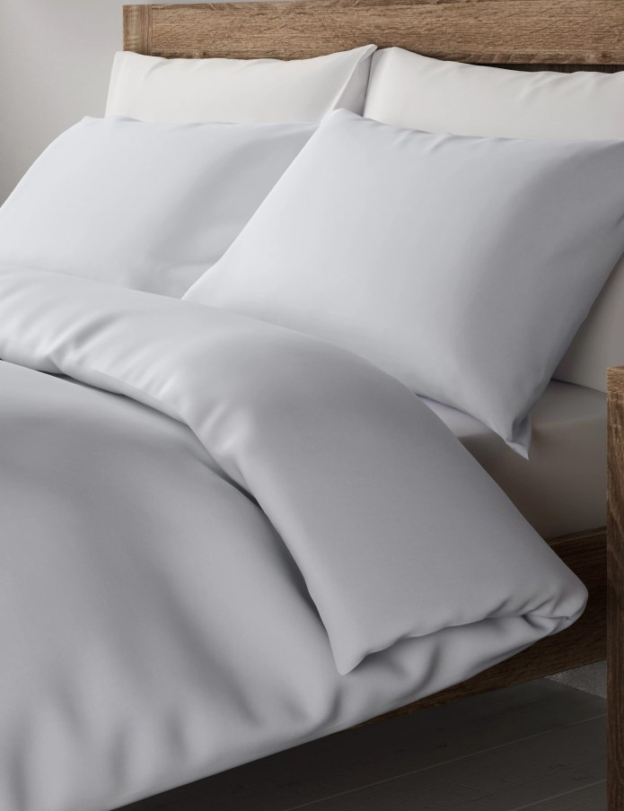A 300 Thread Count M&S Percale Double Duvet Cover should keep you warm this winter, now at £ 36