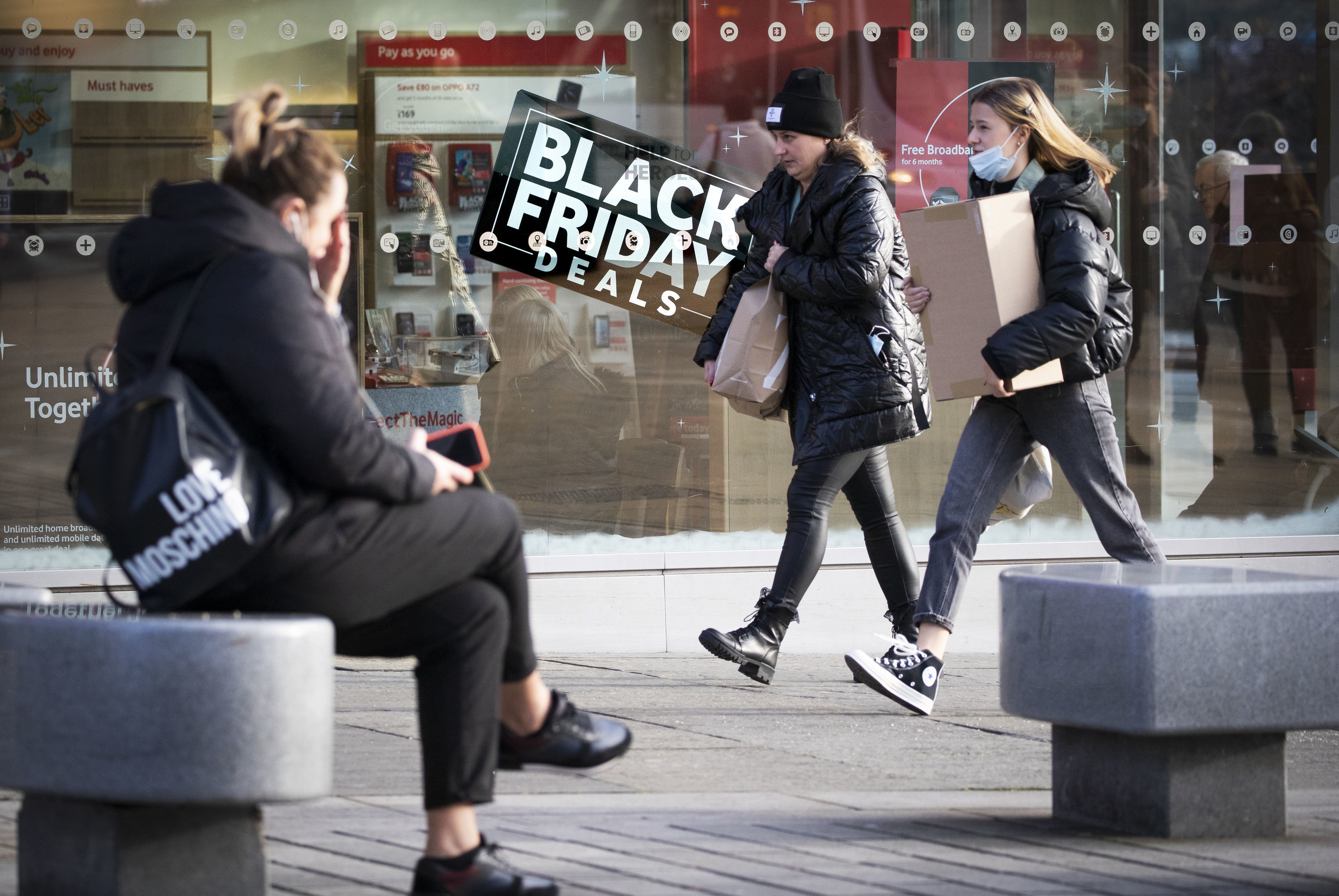 With non-essential shops closed in England on Britain's biggest shopping day of the year