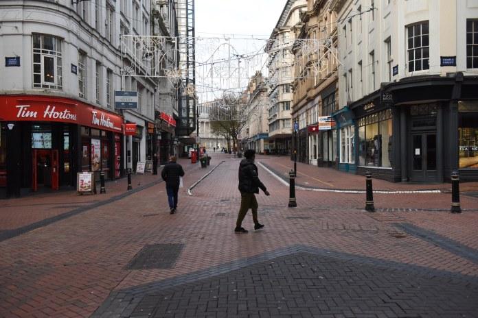Le centre-ville de Birmingham était étrangement calme ce matin