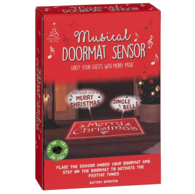 The musical doormat is being sold by B&M for £5
