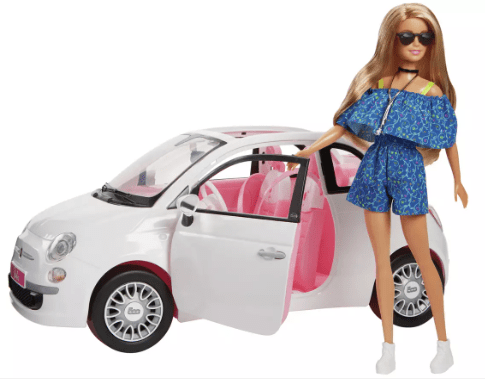 Barbie fans are sure to love this cute Fiat set