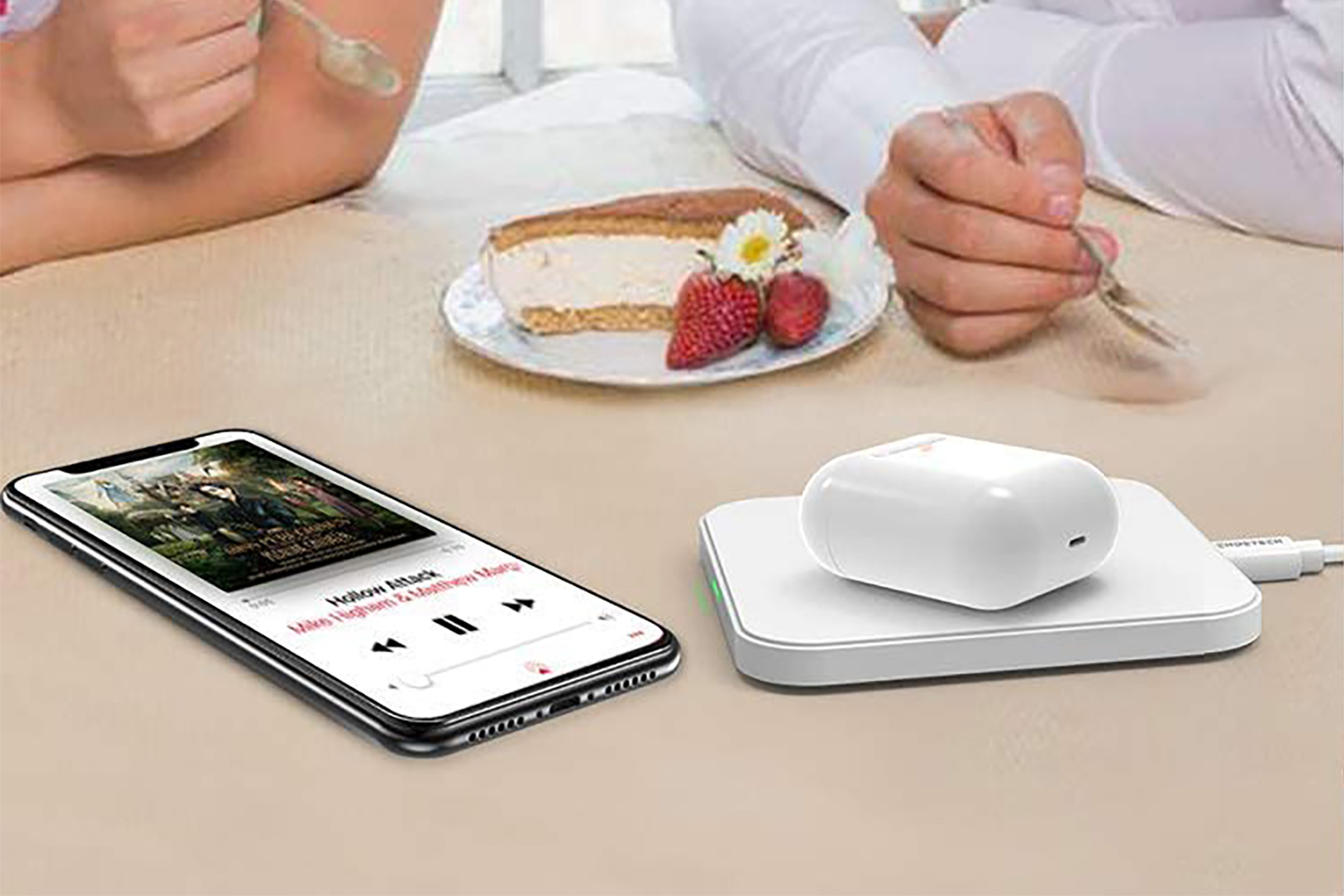 The pad even works with AirPods – if you bought the wireless charging version