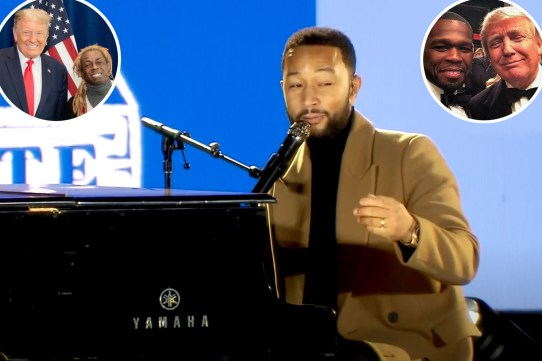 John Legend says his 'former favorite rappers' formed a 'sunken place' group after Lil Wayne and others endorse Trump