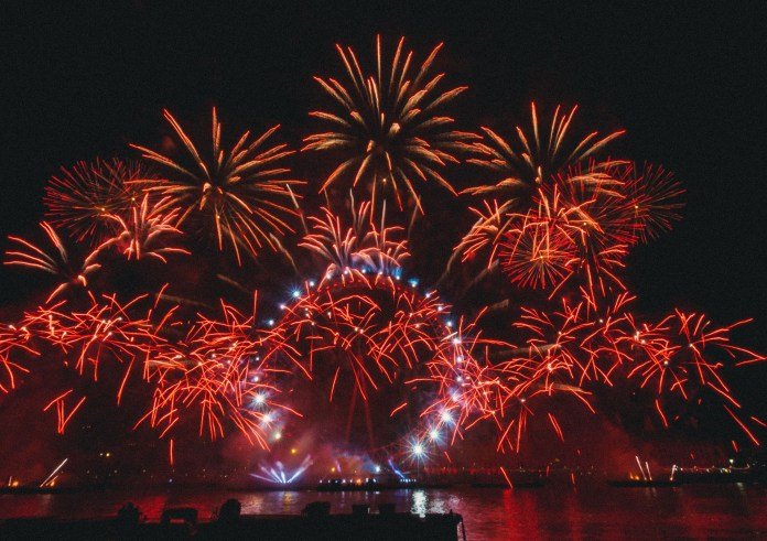 The River Thames fireworks last year