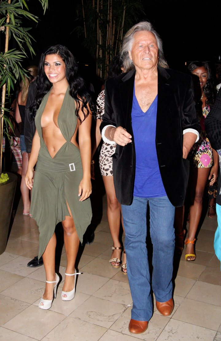 Peter Nygard pictured with Suelyn Medeiros