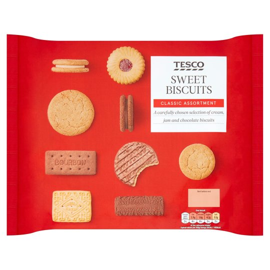 The 400g Sweet Biscuit Assortment at Tesco is just £2