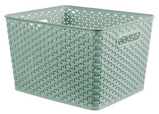 The Curver MyStyle large basket is half price at Tesco