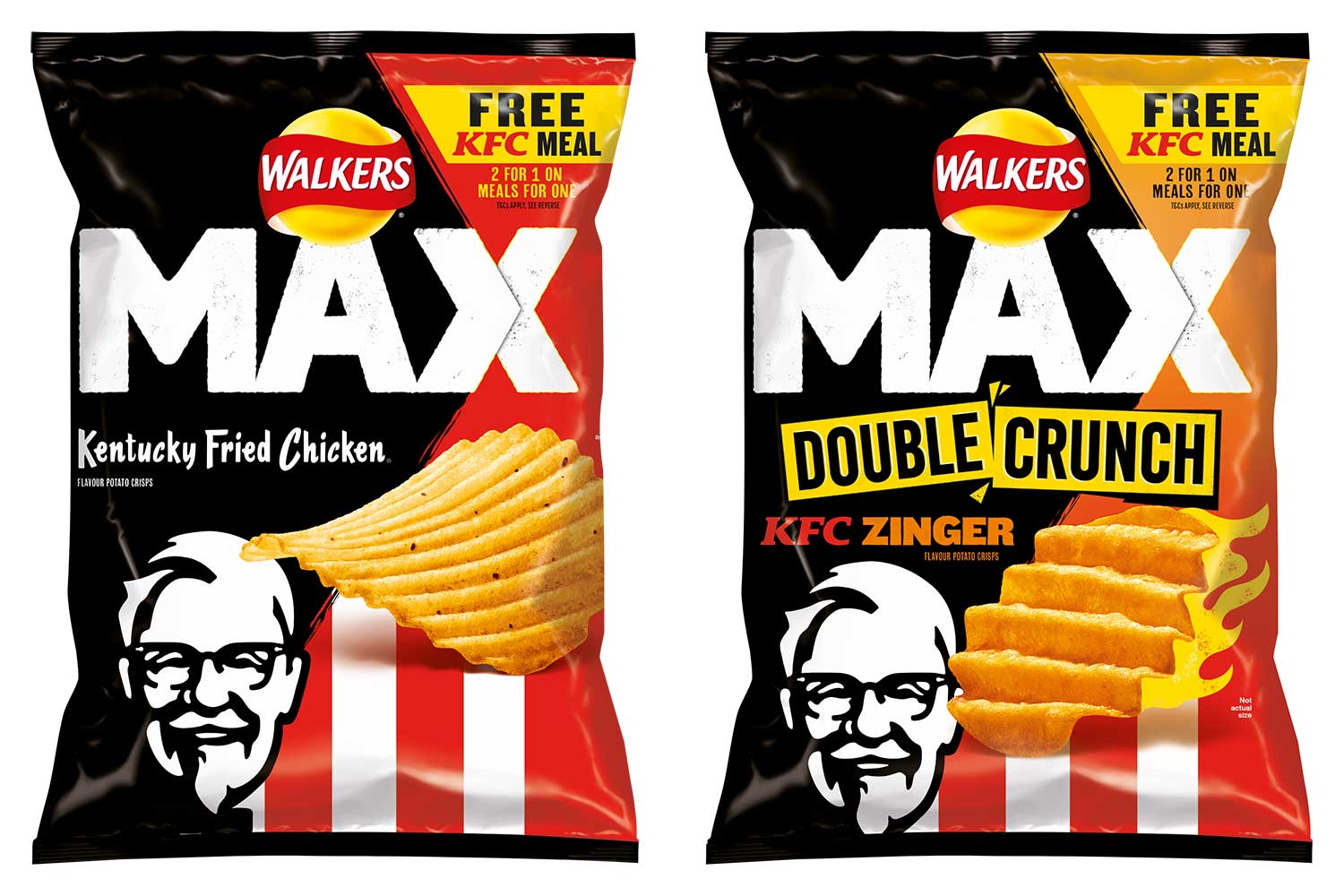 Walkers has launched two new KFC-flavours of crisps
