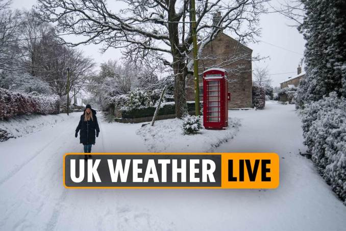 Snow falls across country amid Met Office warnings of ice and travel chaos