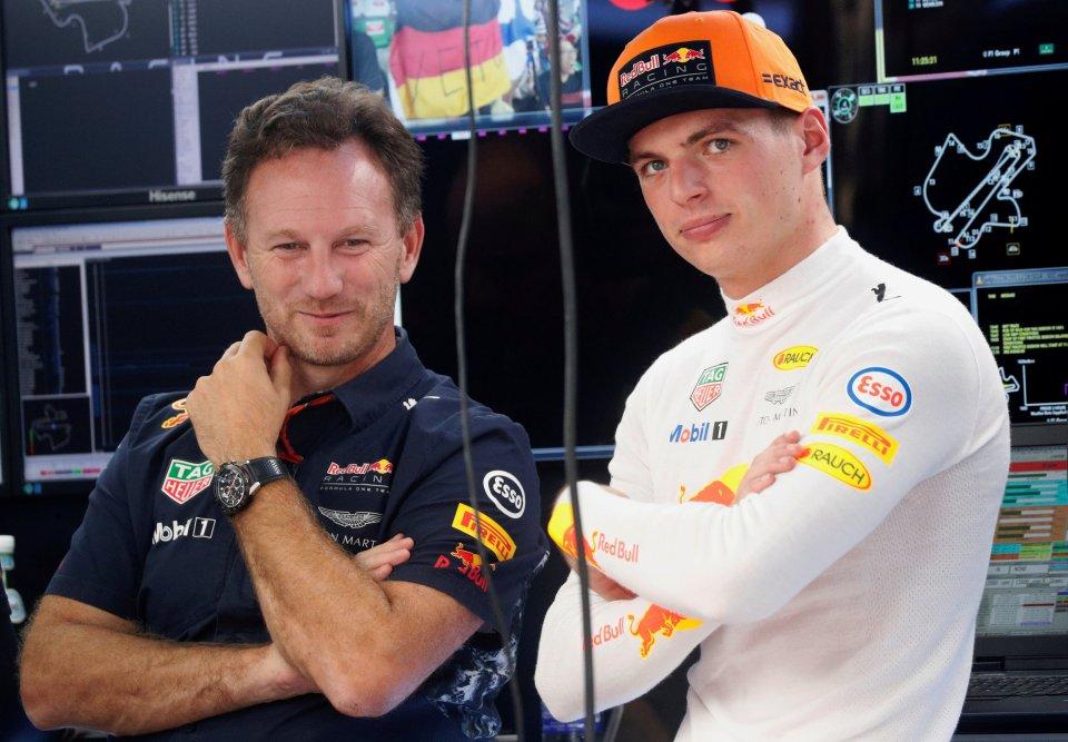 Christian Horner (left) thinks Max Verstappen is a better driver than Lewis Hamilton