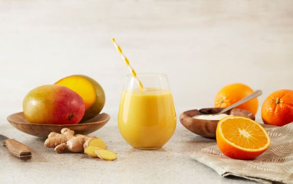 This mango smoothie is the perfect morning drink