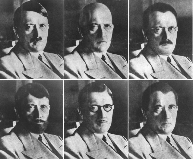 Mock ups of Hitler which were produced by wartime intelligence service the OSS
