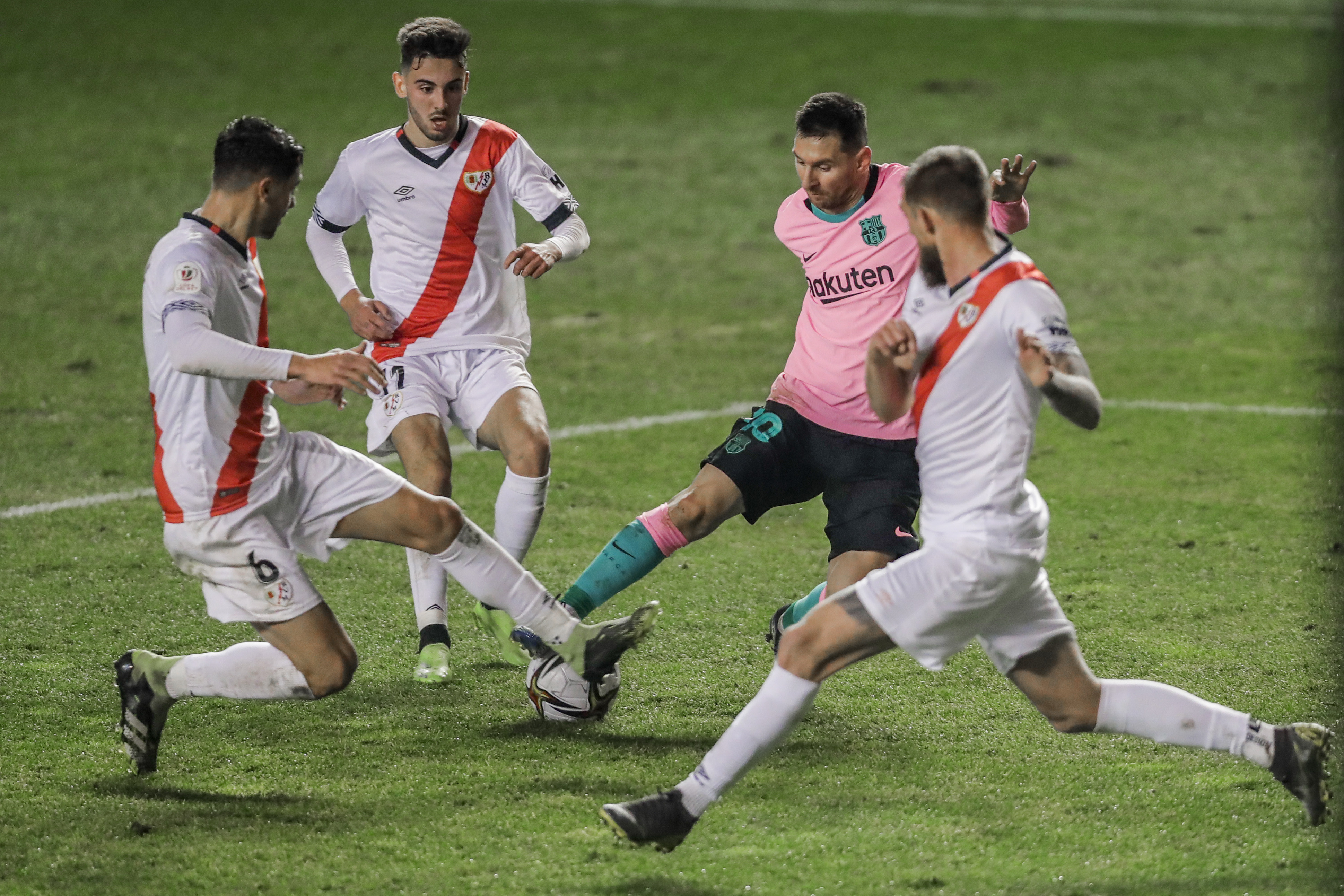 It's been 19 years since rayo beat barcelona and they did so against a side who have scored only one away goal all. Rayo Vallecano 1 Barcelona 2 Messi Back From Ban To Spare Barca Blushes In Comeback Win Over Second Tier Opponents