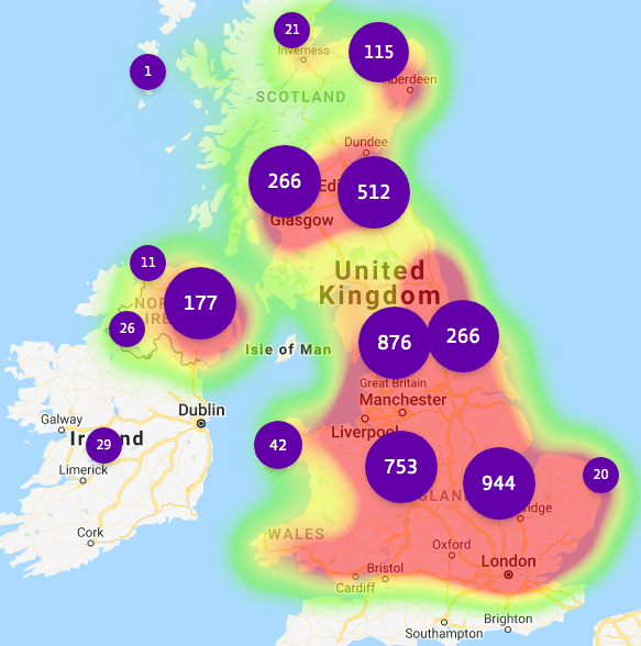 BT's hotspot network is said to reach around 20% of all UK addresses