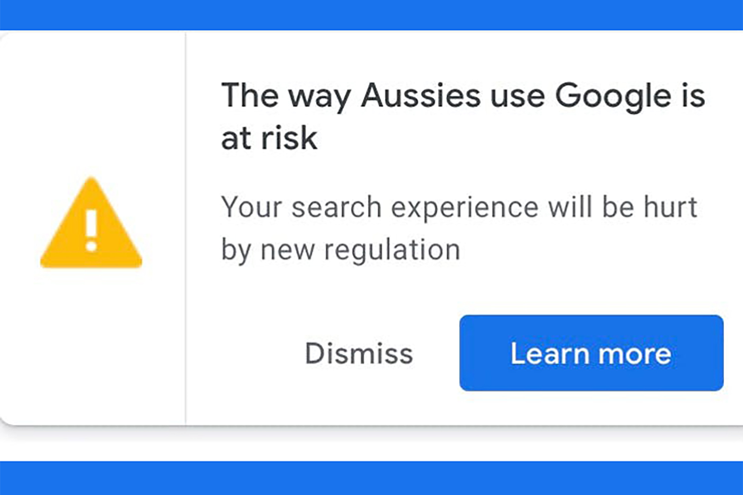 Google has been warning Aussies that its services will soon get worse