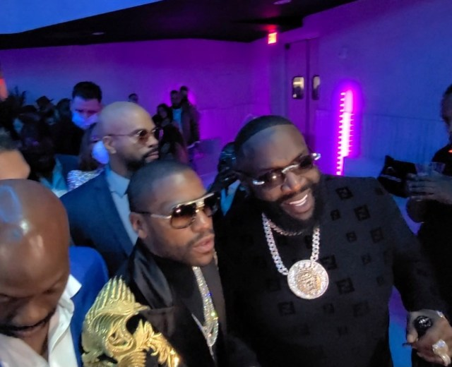Floyd Mayweather pictured with rapper Rick Ross