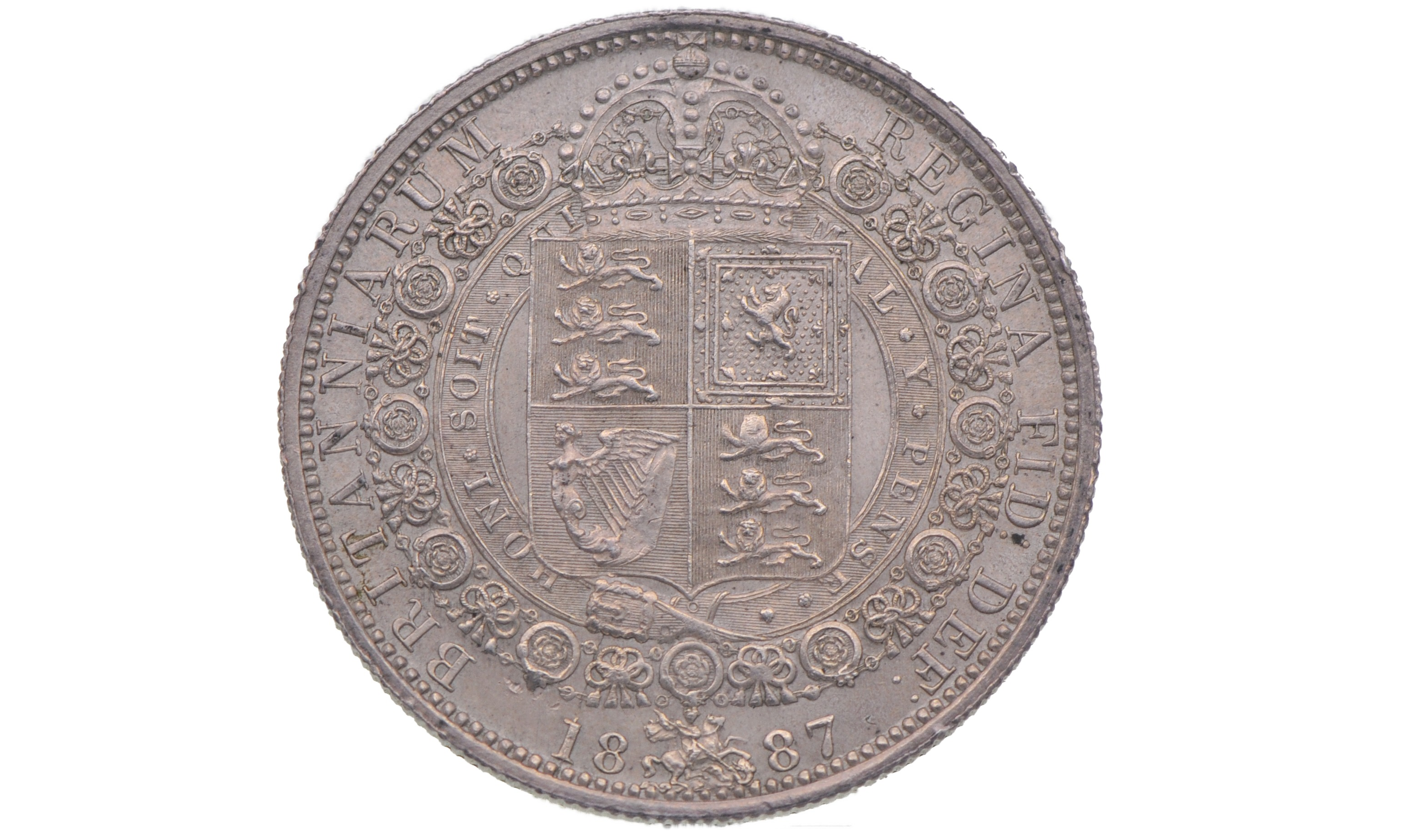 A half Crown dating back before 1920 is estimated to be worth around £6.88