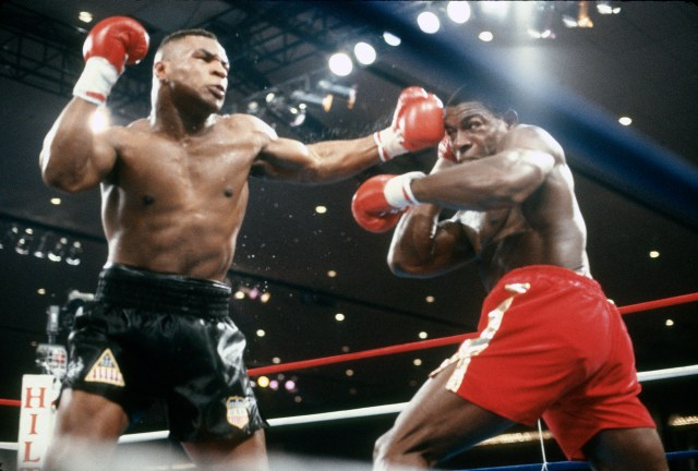 Frank Bruno was twice stopped by Mike Tyson