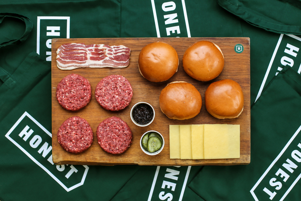 Honest Burger is doing DIY kits so you can make a tasty patty from home