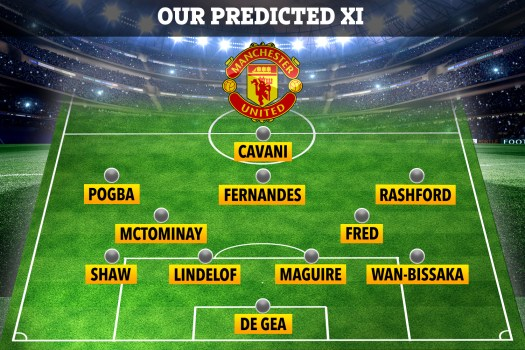How Man Utd could line up against Everton with Cavani fit ...