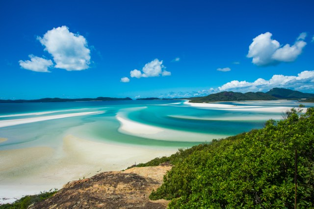 The best beach in the world is Whitehaven beach in Australia