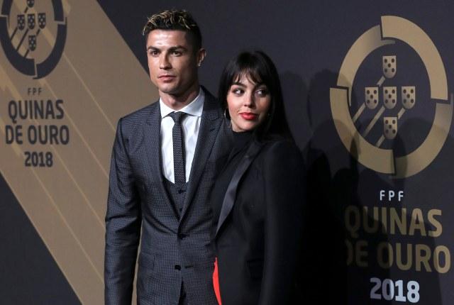 Ronaldo and his girlfriend Georgina Rodriguez