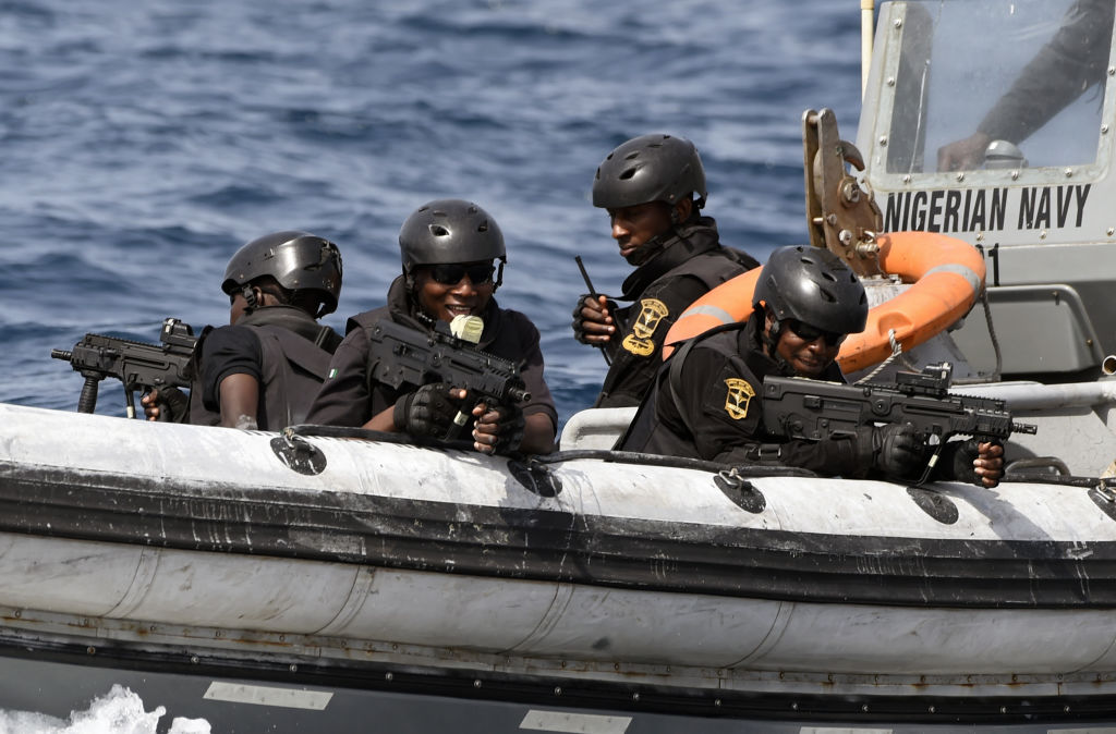 The Nigerian Navy sends out armed patrols of its own to try and police the pirates