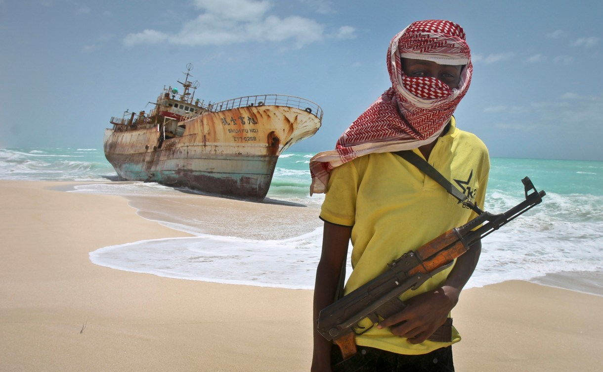 Modern pirates are often armed to the teeth with machine guns and RPGs