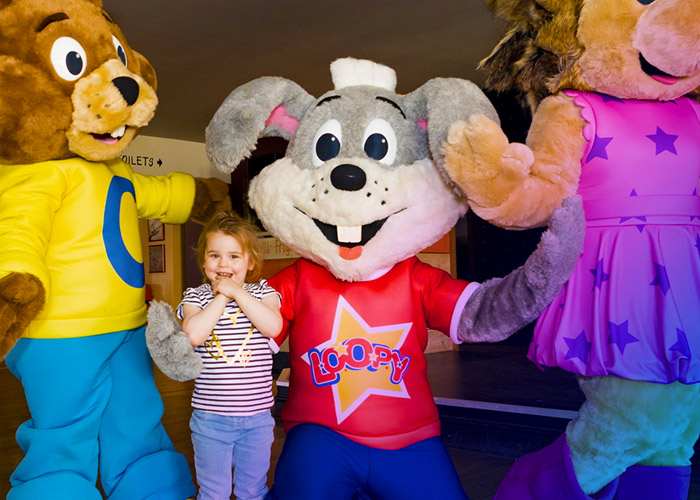 Kids can meet fun characters at this park's entertainment venue