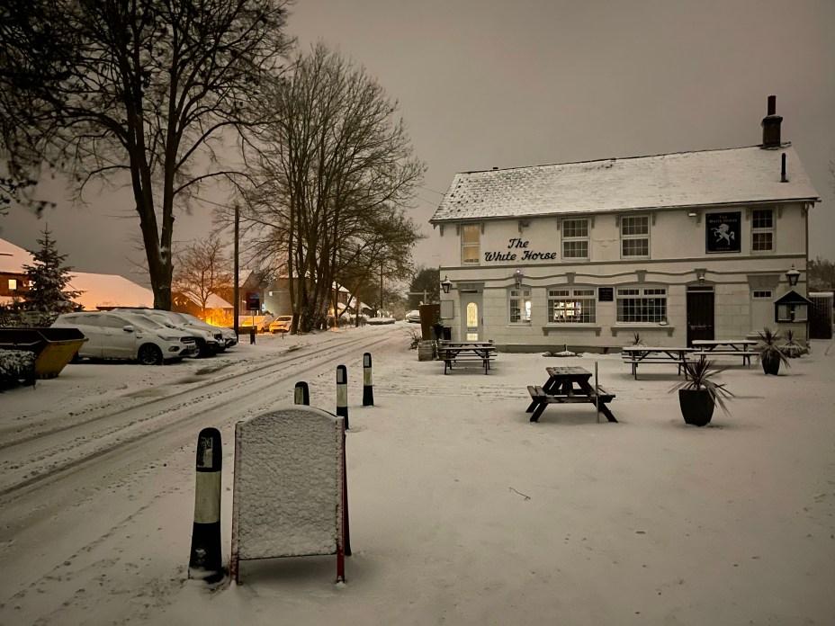 Maidstone has seen heavy snowfall overnight