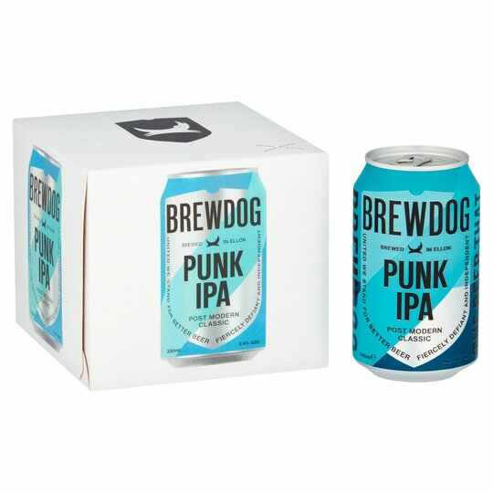 Save 50p on this four-pack of Brewdog IPA when you use a Clubcard at Tesco