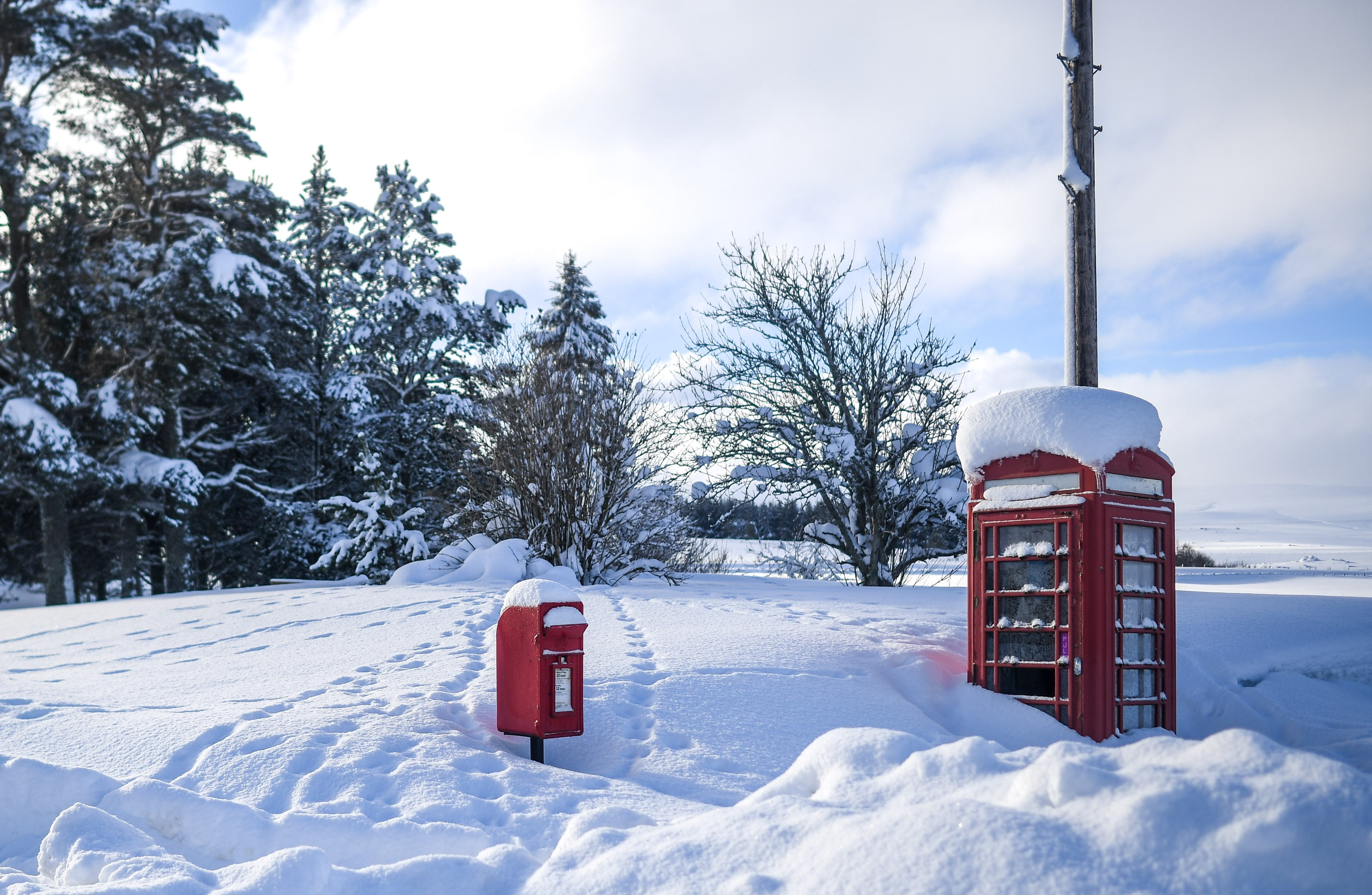 Snow in Scotland today