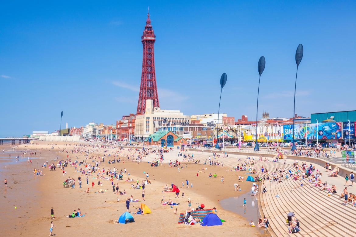Holiday-goers have said Blackpool Beach, famous for it's 158m tall tower is in the top ten.