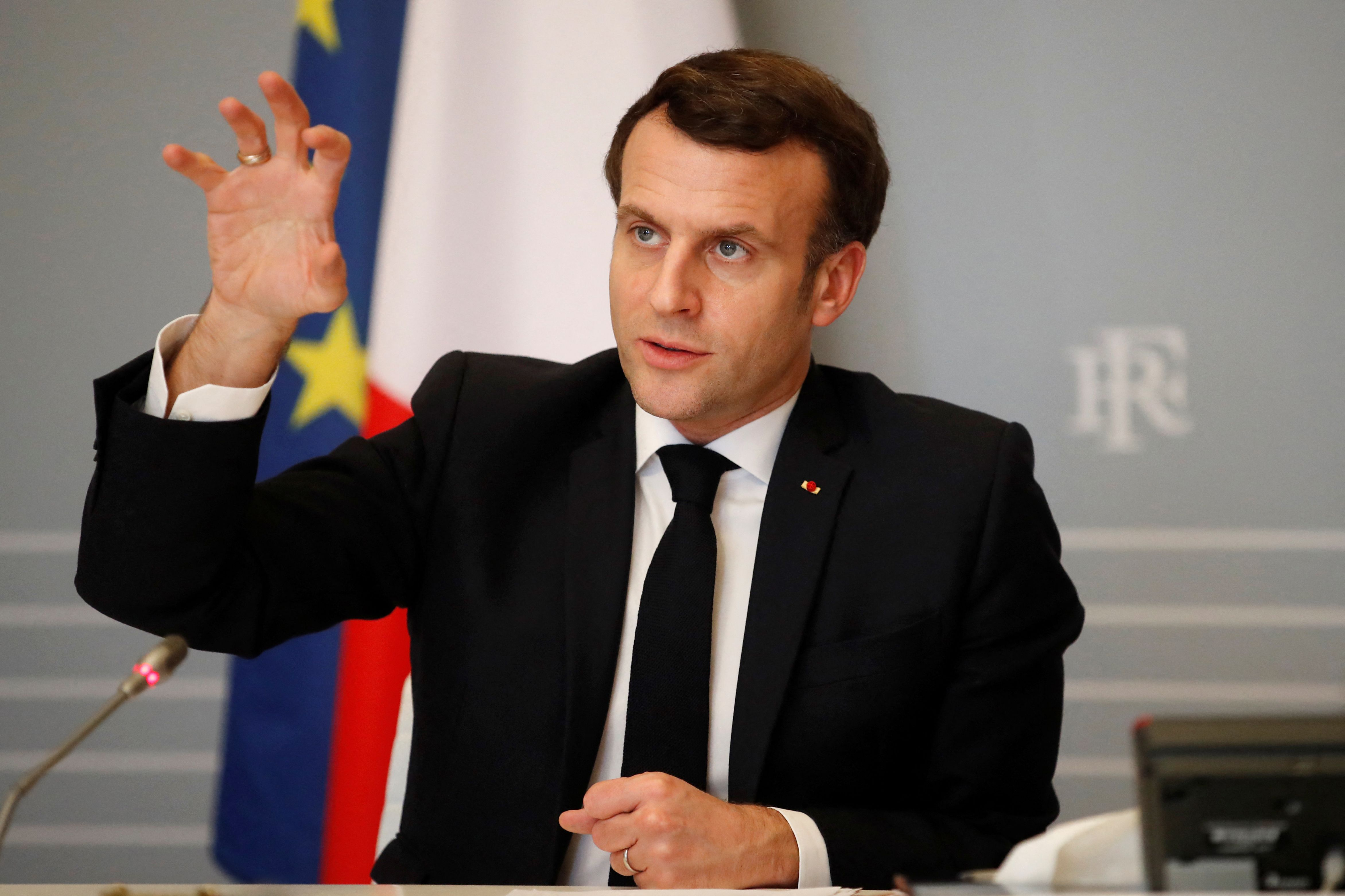 French president Emmanuel Macron claimed the Oxford vaccine 'doesn't work' on the over 65s