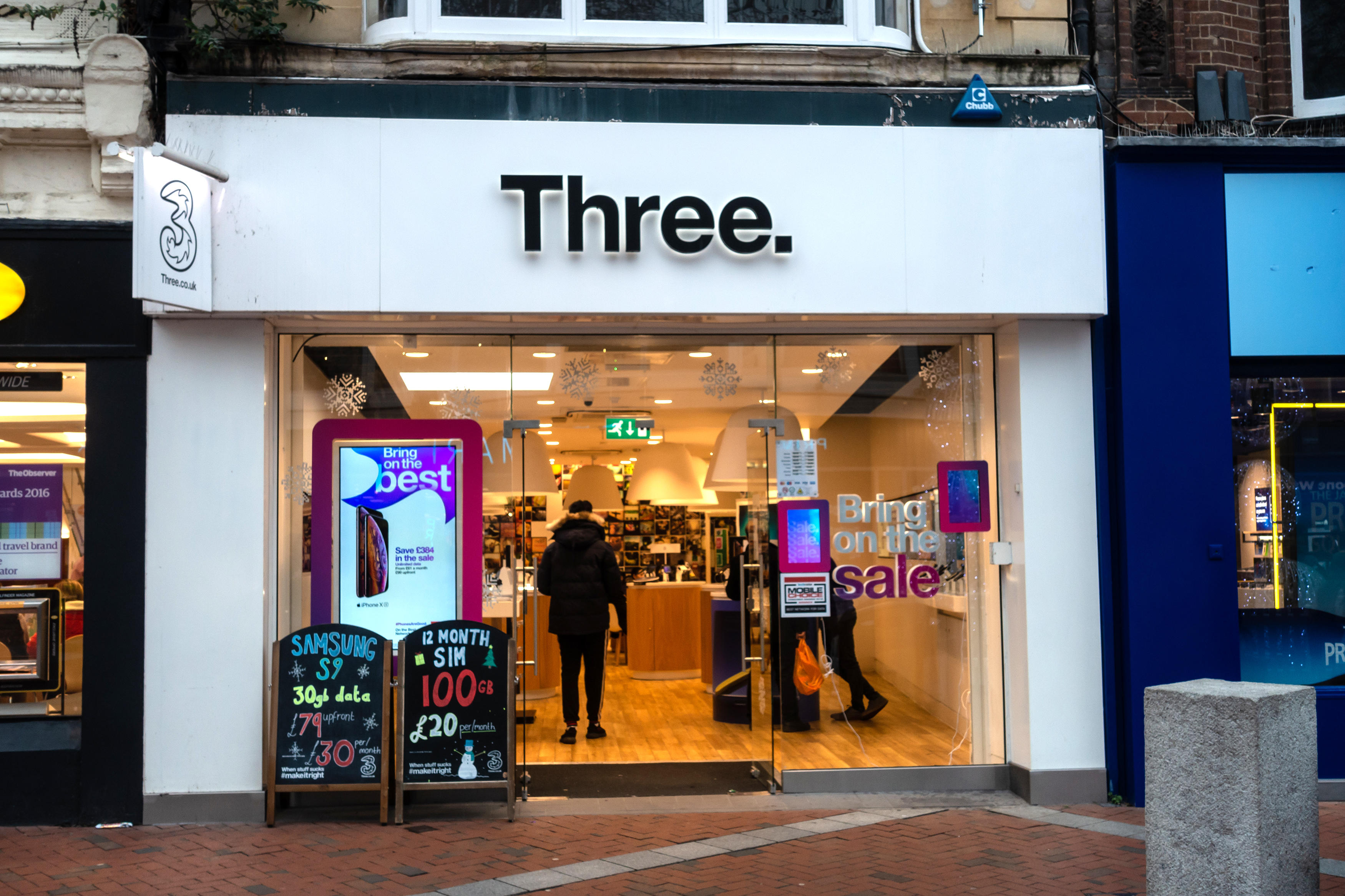 Three customers will see their bills jump by up to 4.5%