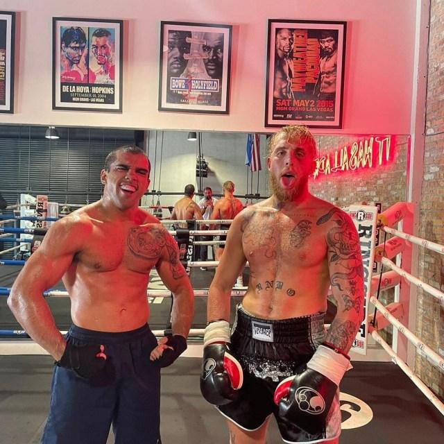 Brazilian Raush Manfio with YouTuber Jake Paul