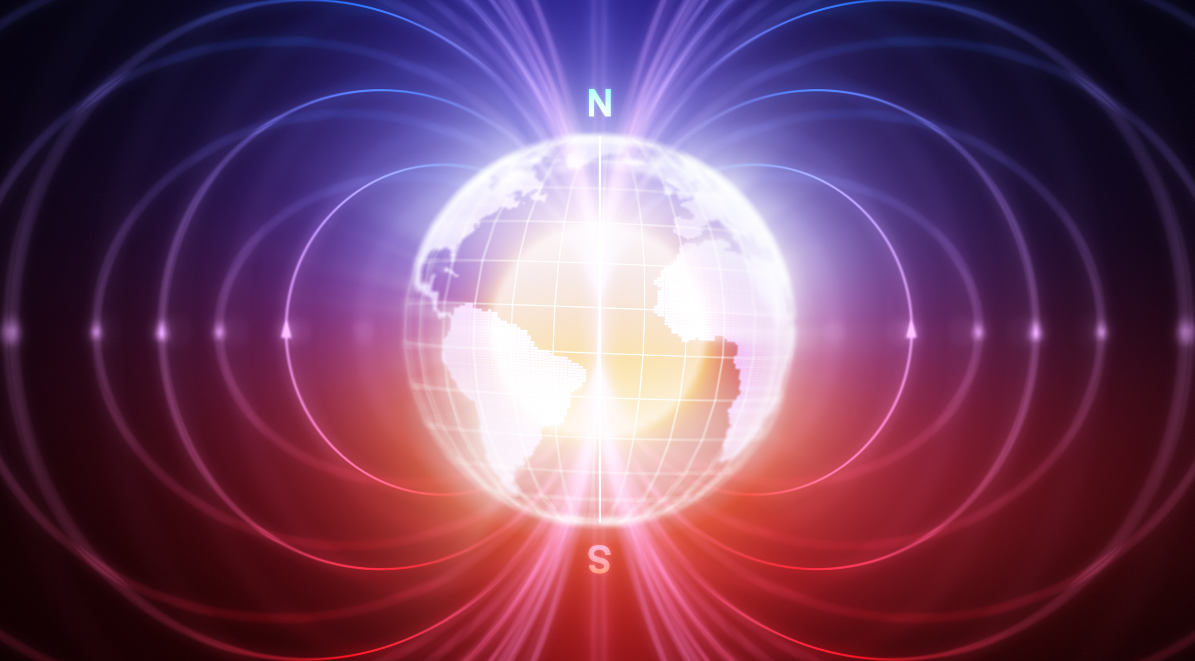 The Earth is protected from cosmic radiation by a magnetic field that stems from its magnetic poles