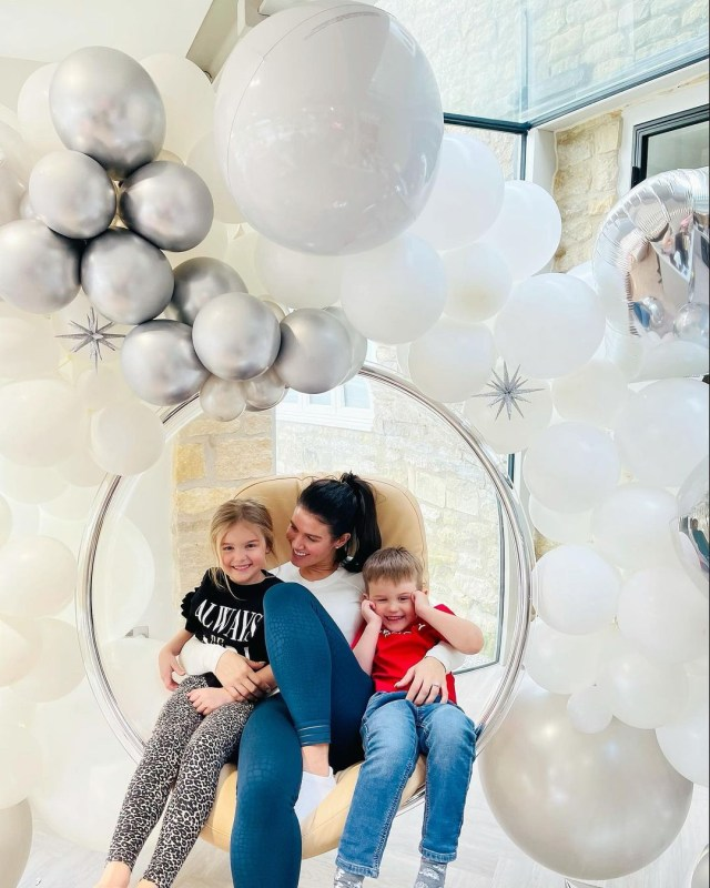 Becky Vardy celebrated her 39th birthday at home with Sofia and Finley