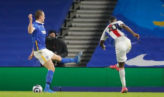 Christian Benteke volleyed Crystal Palace's winner