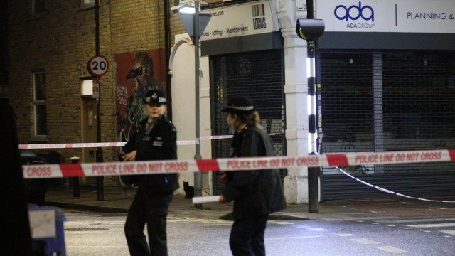 Cops have cordoned off the road in north London