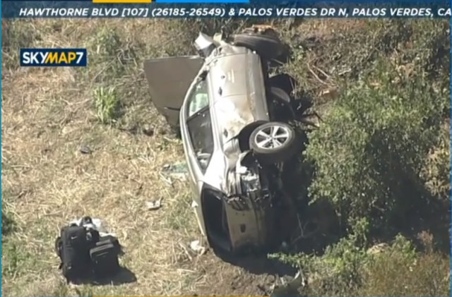 The LA County Sheriff's Department confirmed that Woods was the driver of a vehicle