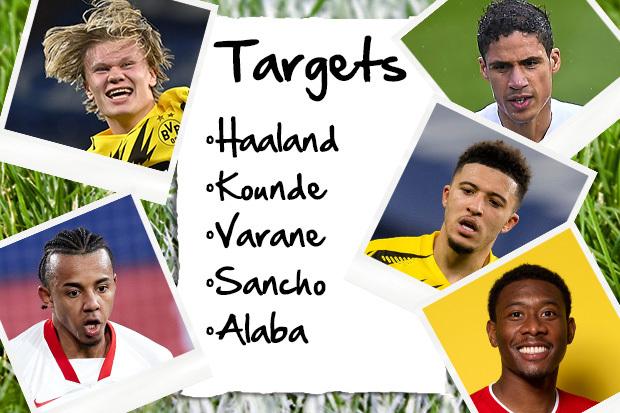 Man Utd have five European superstars on their summer transfer wishlist
