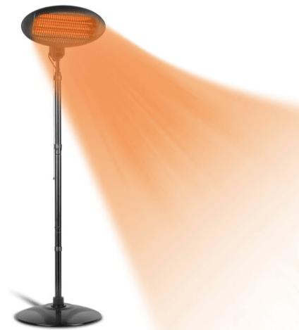 Keep warm outside with this patio heater