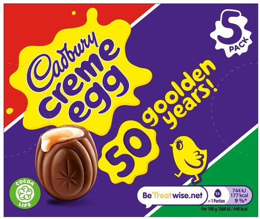 Pick up a box of five Cadbury's Cream Eggs at Tesco for £1 with a Clubcard, down from the usual £2