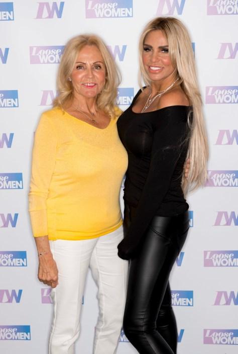 Katie Price with her terminally ill mum, Amy