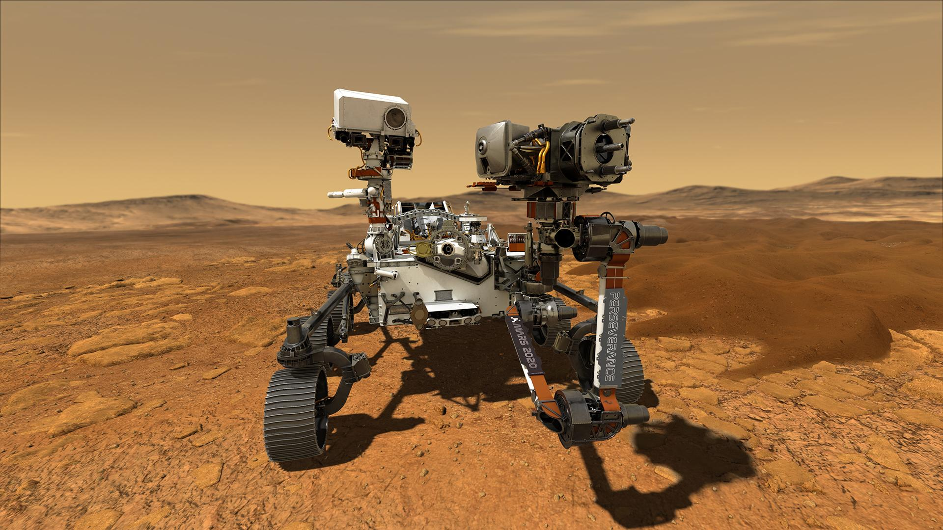The Perseverance rover touched down on Mars last week (artist impression)