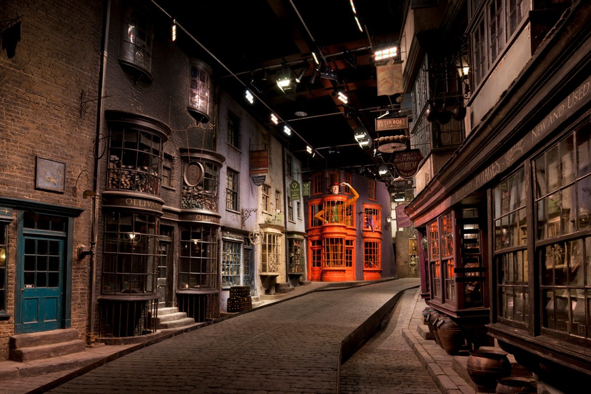 Go shopping in Diagon Alley as part of the Harry Potter Studio Tour