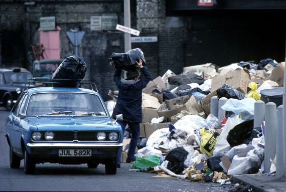 Rubbish piled up in London during the 'Winter of Discontent'